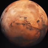 Valles Marineris Hemisphere of Mars Photographic Print