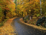 New England Road in Autumn Photographic Print by Darrell Gulin