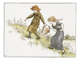 Illustration of Jack and Jill by Kate Greenaway Giclee Print