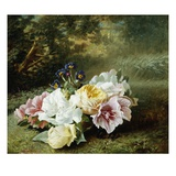 Still Life with Roses Giclee Print by C.f. Hurten