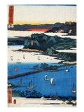 Print of Coastal Scene by Hiroshige Lmina gicle por Stefano Bianchetti