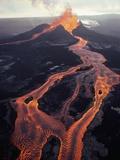 Jim Sugar - Puu Oo Crater Erupting Fotografická reprodukce