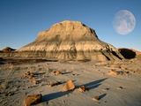 Moon and Rock Formation Photographic Print by Tom Bean