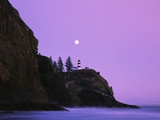 Purple Skies Over Lighthouse Photographic Print by Craig Tuttle