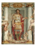 Roman Legionnaire Fresco Giclee Print by Araldo Luca