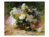 A Still Life of Lilacs Giclee Print by Georges Jennin