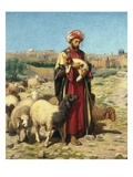 A Shepherd of Jerusalem Impression giclée par William J. Webbe