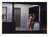 Sommerabend Giclée-Premiumdruck von Edward Hopper