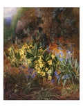 Spring Flowers on a Mossy Bank Giclee Print by Charles Archer
