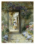 Through the Garden Door Premium Giclee Print by George Sheridan Knowles