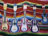 Colorful Guitars Drying Photographic Print by Richard Cummins