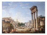 The Forum, Rome, Italy Giclee Print by Giovanni Paolo Panini