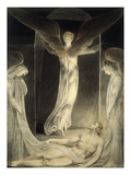 Angels Rolling away the Stone from the Sepulchre Premium Giclee Print by William Blake