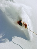 Dave Richards Skiing in Deep Powder Snow Lámina fotográfica por Lee Cohen