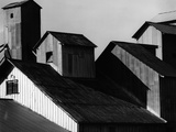 Corrugated Steel Rooftops Photographic Print by Brett Weston
