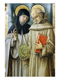 Detail of Saint Bernardino and Saint Catherine of Siena Giclee Print by Carlo Crivelli