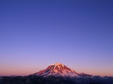 Western Face of Mount Rainier at Sunset Photographic Print by Paul Souders