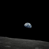 Earthrise and Lunar Horizon from Apollo 8 Lámina fotográfica