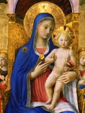 Painting of Mary and Child Photographic Print by S. Vannini