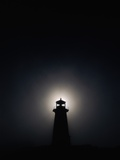 Lighthouse at Night in Peggy's Cove Photographic Print