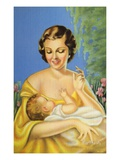 Postcard of Mother Holding Infant Giclee Print by  Lake County Museum