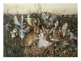 A Rabbit Among the Fairies Premium Giclee Print by John Anster Fitzgerald