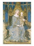Detail of Virgin and Child Enthroned from Maesta Giclée-Druck von Simone Martini