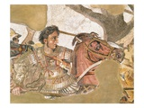 Detail of Alexander the Great from The Battle of Issus Roman Mosaic Giclee Print by Araldo Luca