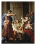 Achilles at the Court of Lycomedes Premium Giclee Print by Pompeo Batoni