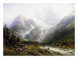 A View of Chamonix and Mont Blanc Giclee Print by Joseph Jansen