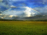 Rainbow Over Valley Photographic Print by Gary W. Carter