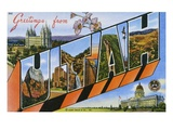 Postcard of Greetings from Utah Giclee Print by Lake County Museum 