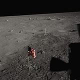 American Flag on the Moon Photographic Print