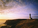 Sun Rising over Yaquina Head Lighthouse Photographic Print by Craig Tuttle