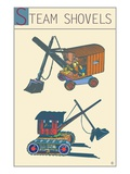 Steam Shovels Giclee Print by Steve Collier