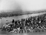 Aerial of Lower Manhattan and Hudson River Photographic Print