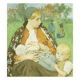 Madonna of the Fields Giclee Print by Gari Melchers