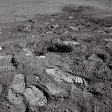 Footprints on the Surface of the Moon Photographic Print