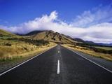 Vacant Highway in Mount Cook National Park Fotografie-Druck von José Fuste Raga