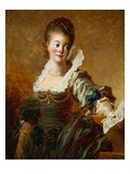 Woman with Sheet Music by Jean-Honore Fragonard Giclee Print by Geoffrey Clements