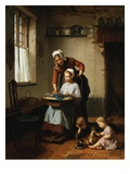 The Embroidery Lesson Giclee Print by Theodore Gerard