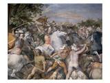 Roman Battle Scene Giclee Print by Giuseppe Cesari