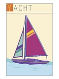 Yacht Giclee Print by  Steve Collier Studio