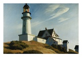 Phare de Two Lights Reproduction procédé giclée par Edward Hopper