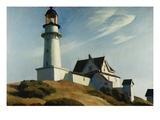 Leuchtturm mit zweiLichtern Giclée-Druck von Edward Hopper