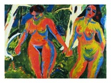 Two Nude Women in the Forest Giclee Print by Ernst Ludwig Kirchner