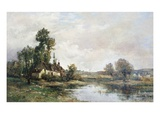The Farm on the Pond Gicléetryck av Maurice Levis