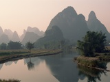 Li River and Karst Hills Photographic Print by Keren Su