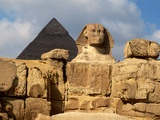 The Great Sphinx and Pyramid of Khafre Photographic Print by Carmen Redondo