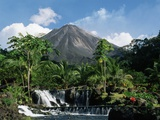 Tabacon Hot Springs and Volcan Arenal Photographic Print by Kevin Schafer